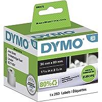 Dymo (1983172) LabelWriter Etiquetas grandes de dirección autoadhesivas, 36 mm x 89 mm, rollo de 260