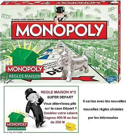 Hasbro - Monopoly, Juego de Tablero (B12191010) (versión en francés): Amazon.es: Juguetes y juegos
