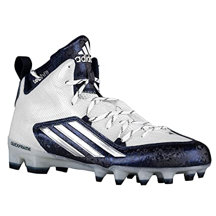 new style 66300 d31e3 Adidas Crazyquick 2.0 Mid Mens Football Cleats 7.5 White-Platinum-Navy