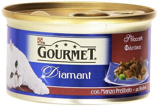 6 opinioni per Gourmet Diamant con Manzo Prelibato, Alimento Completo per Gatti- 85 gr