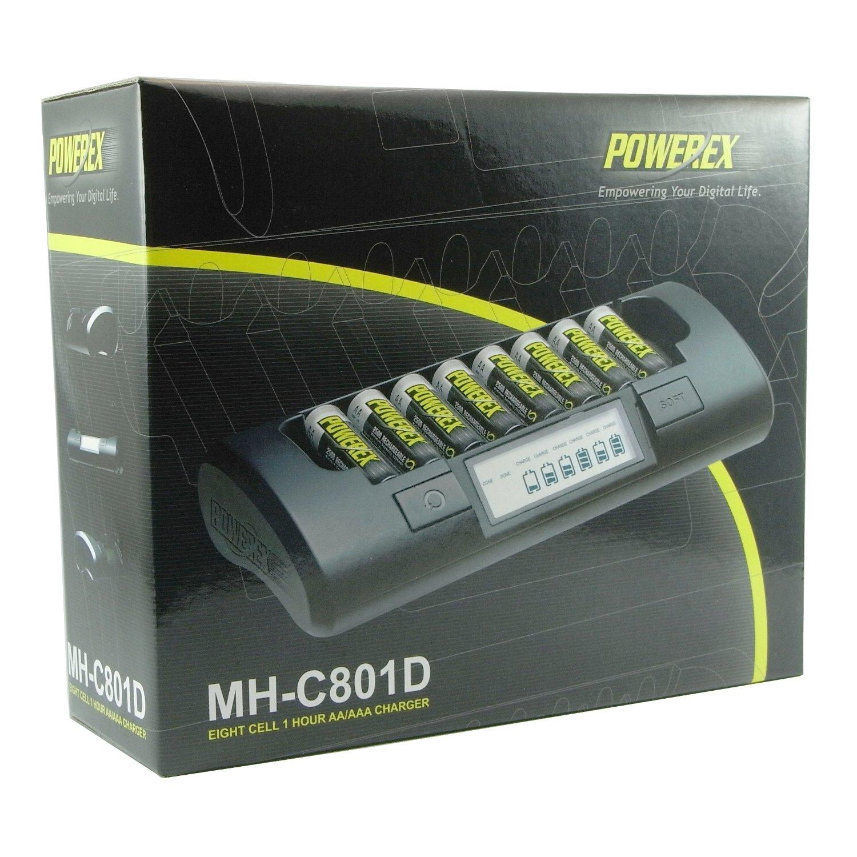Maha Powerex MH-C801D cargador inteligente, a una hora de AA (LR6) / AAA (LR3) 8-Cell