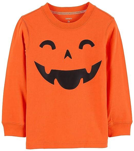 c10dbde2a Amazon.com: Carter's Boys' Long-Sleeve Halloween Graphic Tee: Clothing