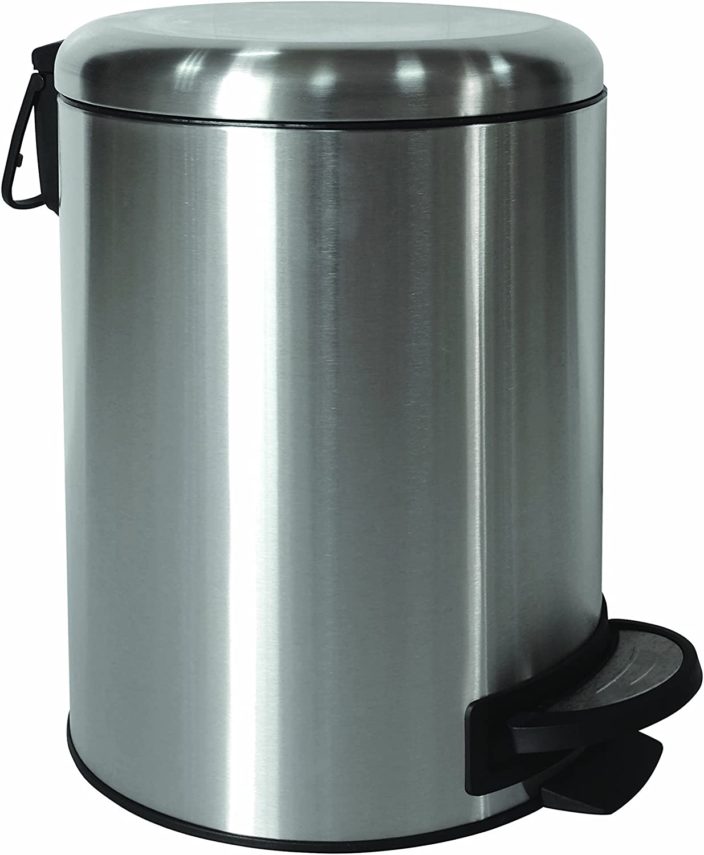 trash garbage bin waste Tramontina 5L Stainless Steel Pedal 5 Litre