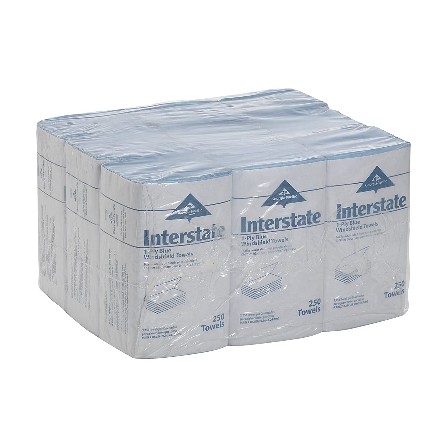 Interstate® Windshield Towels by GEORGIA PACIFIC, 1-PLY, AUTO WIPES, BLUE, GPC02350: Paper Towels: Amazon.com: Industrial & Scientific