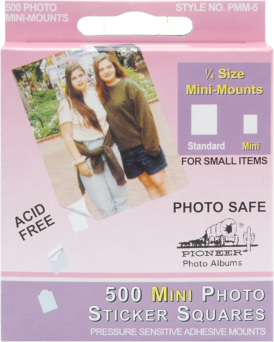 Pioneer Photo Albums 500 Count Self Adhesive Mini Photo Mounts PMM5