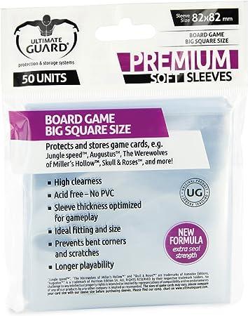 Ultimate Guard 10288 Premium Sleeves Fundas de Cartas del Juego de Mesa Cuadrado Grande (50): Amazon.es: Juguetes y juegos