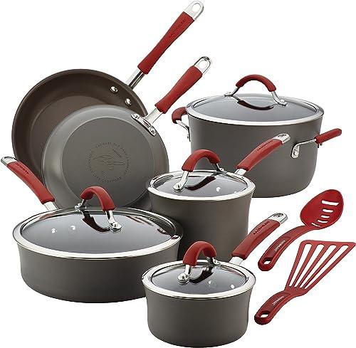 Rachael Ray Cucina Hard Anodized Nonstick Cookware Pots