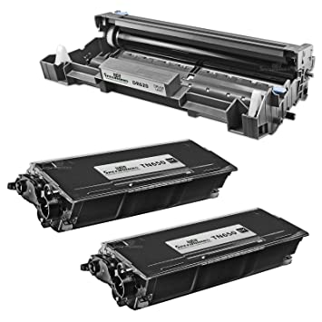 2 Black Toner Cartridges and 1 Drum Brother MFC-8870WN Printer 3Pk DR520 TN580