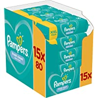 Pampers Fresh Clean Babydoekjes 15 Verpakkingen Met 80 Doekjes = 1200 Doekjes Met Zachte Frisse Geur En Dermatologisch…