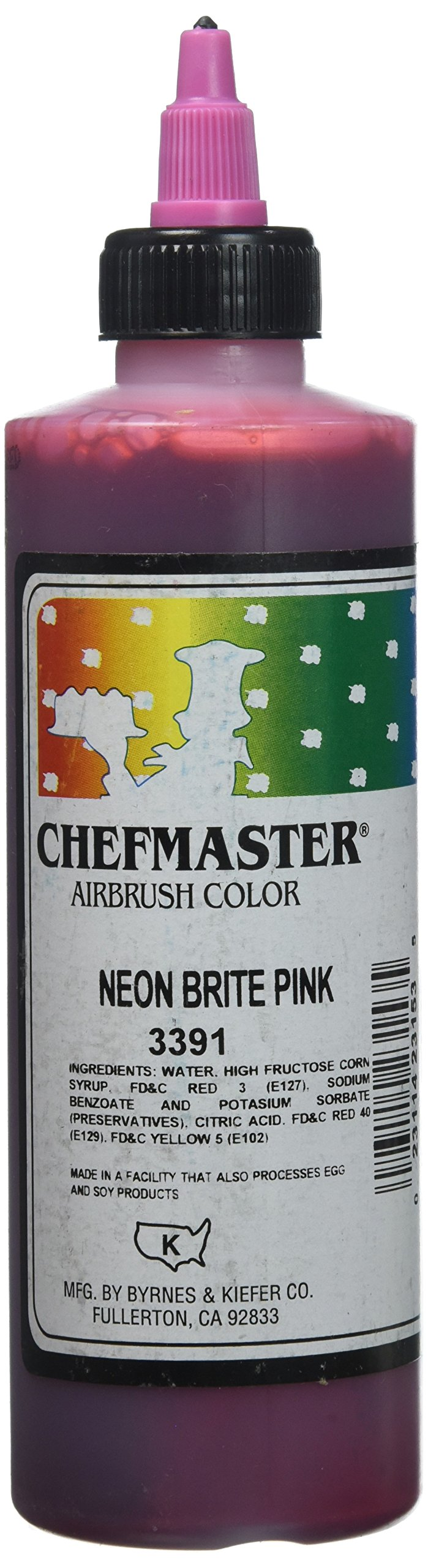 Chefmaster Airbrush Spray Food Color, 9-Ounce, Neon Brite Pink