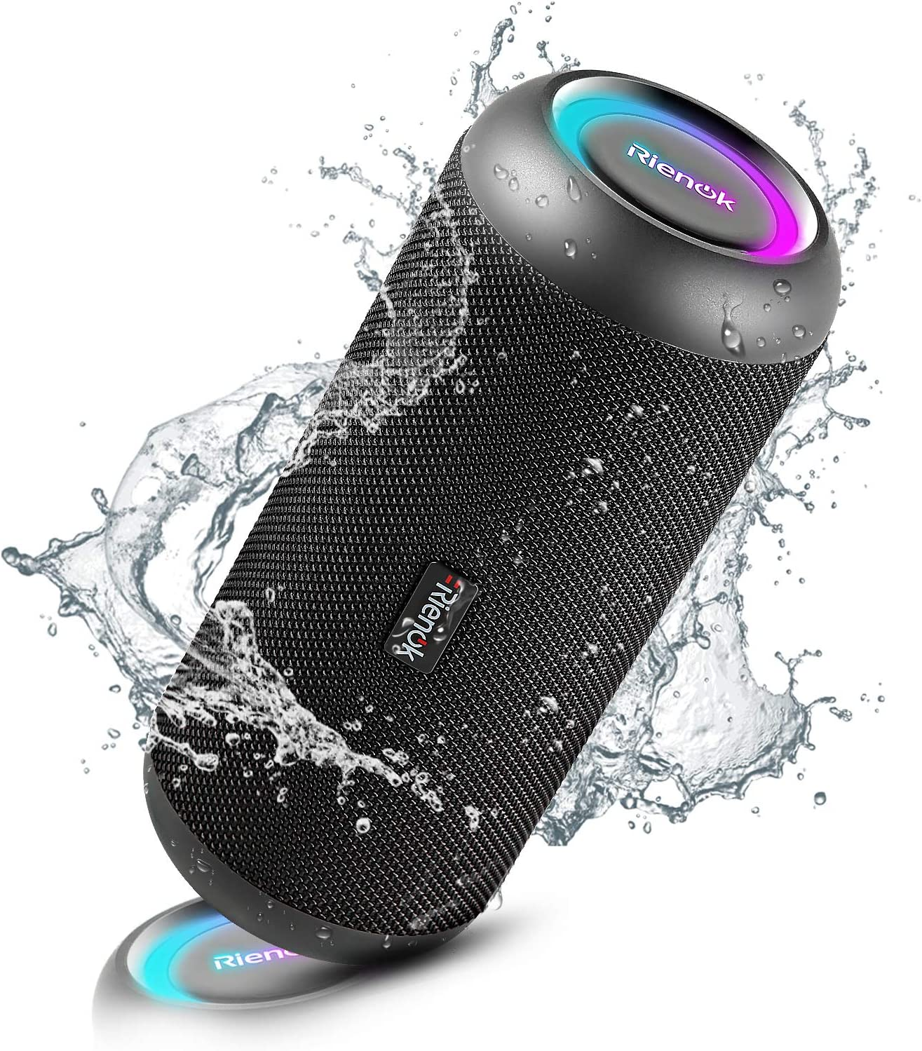 RIENOK Portable Bluetooth Speaker 30W Wireless Speaker TWS Pairing HD Stereo Sound IP67 Waterproof Outdoor Sport Speakers Bluetooth 5.0 for Home Party