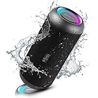 RIENOK Bluetooth luidspreker draagbare draadloze muziekbox 30W extra bass LED lichteffecten waterdicht IP67 microfoon en…