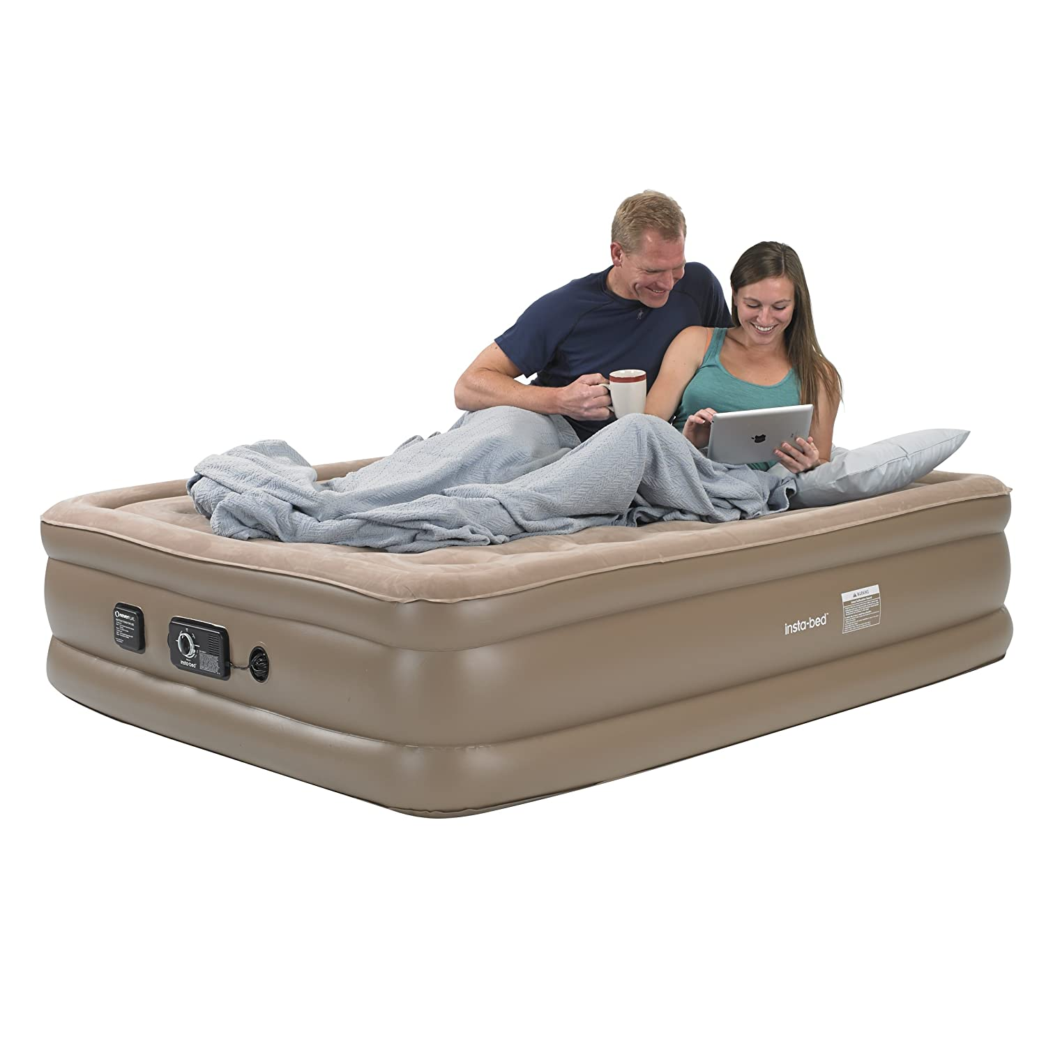 Insta-Bed Raised Air Mattress with Never Flat Pump - Queen