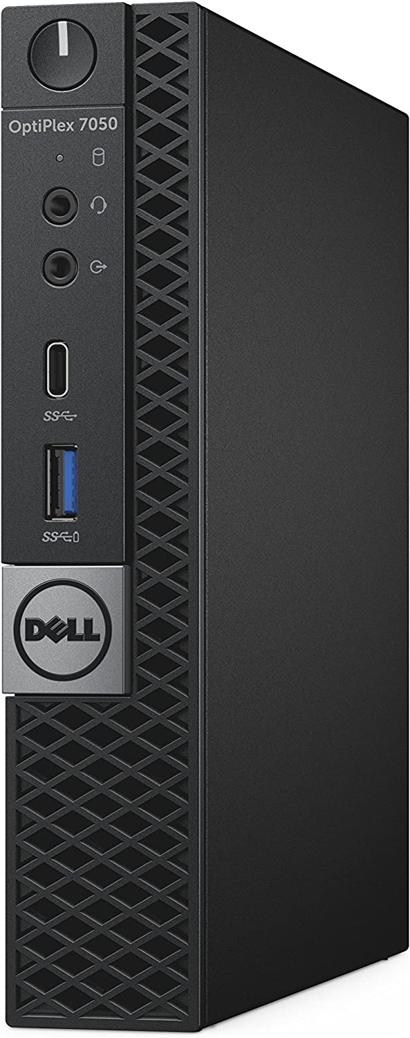 Dell OptiPlex 7050 Micro Computer, Intel Quad Core i5-6500T up to 3.1GHz, 16G DDR4, 256G SSD, Windows 10 Pro 64 Bit-Multi-Language Supports English/Spanish/French(Renewed)