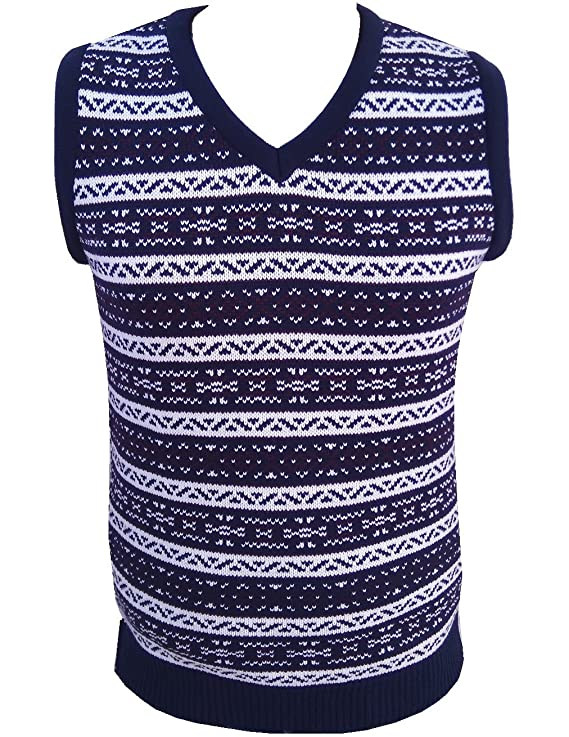 Men's Vintage Sweaters – 1920s to 1960s Retro Jumpers London Knitwear Gallery Aztec Retro Vintage Knitwear Tanktop Sleeveless Golf Sweater £18.99 AT vintagedancer.com