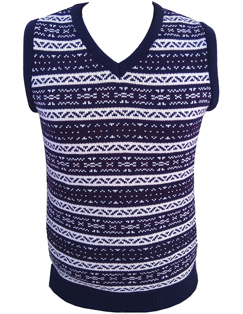 1920s Mens Sweaters, Pullovers, Cardigans London Knitwear Gallery Aztec Retro Vintage Knitwear Tanktop Sleeveless Golf Sweater �18.99 AT vintagedancer.com