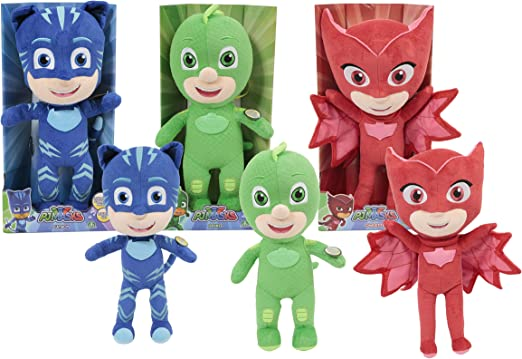 1 30 x 13 x 7 Peluche 22cm Famosa- PJ Masks 760015961 Modelo Aleatorio