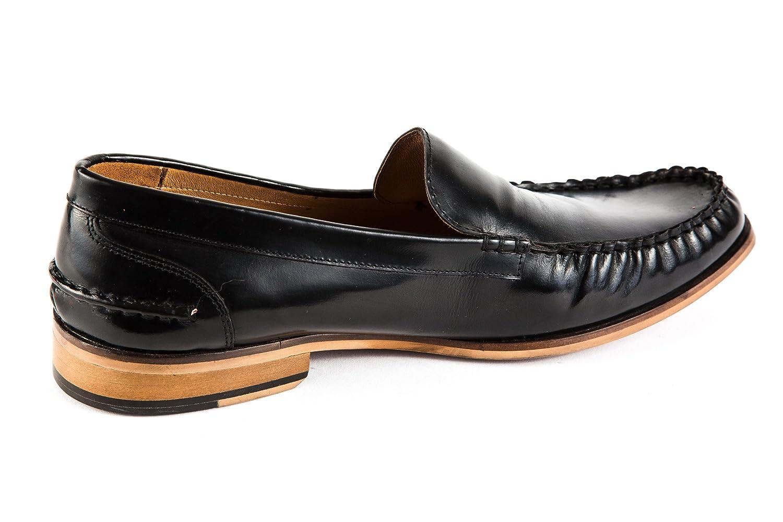 Global Mocasines de charol para hombre Negro negro, color Negro, talla 42: Amazon.es: Zapatos y complementos