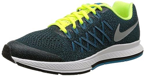 sports shoes aed3c 78a0e Nike Zoom Pegasus 32 (GS) Scarpe Sportive, Ragazzo, Black/Mtllc Silver