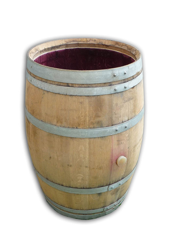 Wine Barrel as rain basin, rain barrel and water tank incl. lid. 100% Oak. Beautiful garden decoration TEMESSO FG-O-De-H