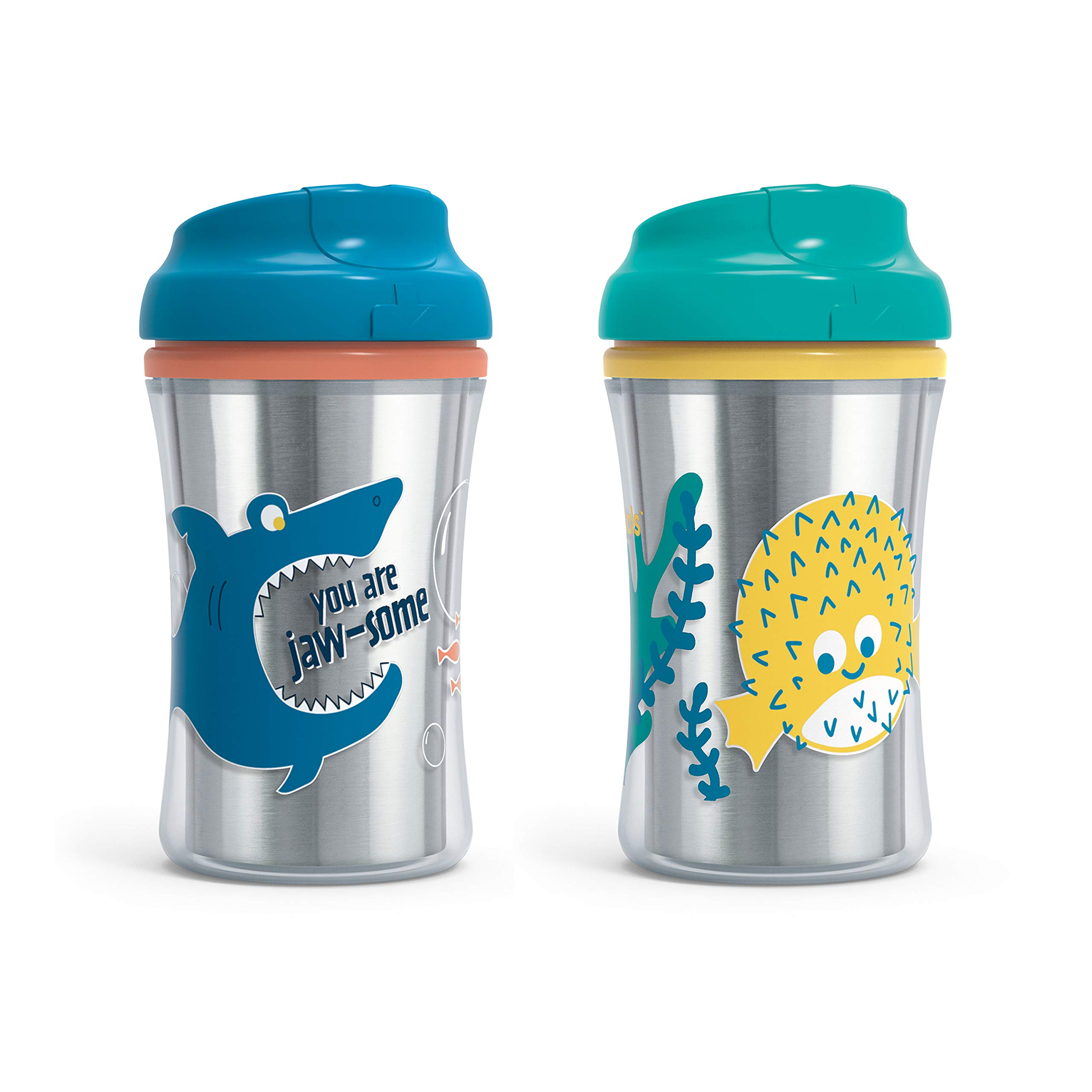 First Essentials by NUK Fun Grips Hard Spout Sippy Cup in Assorted Colors and Patterns, 9 oz., 2-Pack