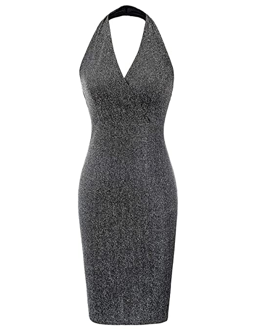 Kate Kasin Damen Klassisch Rückenfrei Etui Bleistift Kleid Cocktailkleid Partykleid Abendkleid
