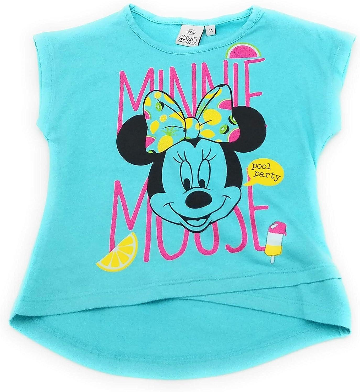 Camiseta Infantil Manga Corta Minnie Disney para ni/ñas 100/% algod/ón