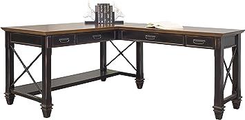 Amazon.com: Martin Furniture Hartford Open L-Shaped Desk ...