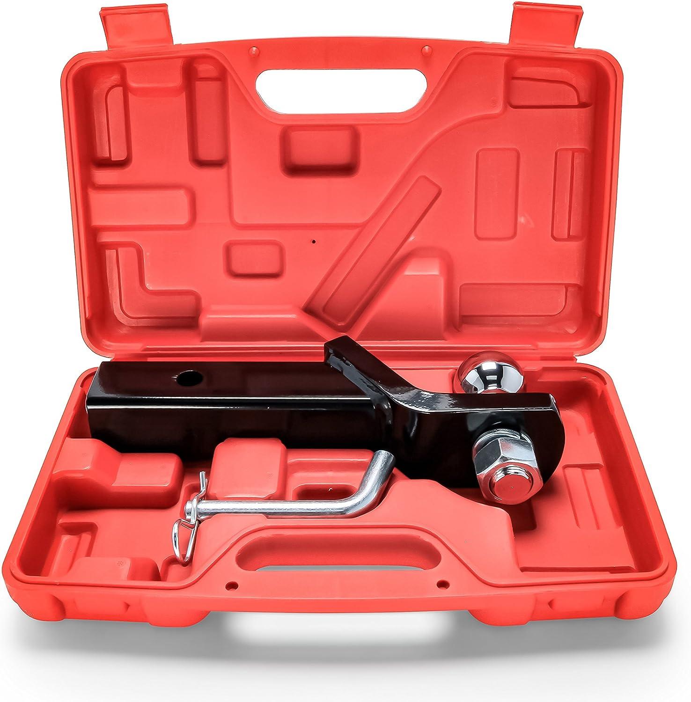 Amazon Com Camco 51952 Eaz Lift Hitch Mount Tow Kit 2 Ball 2 Drop Class Iii 5000 Lbs Rating Automotive