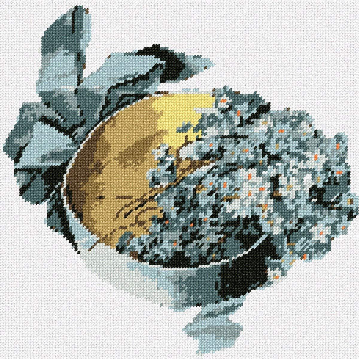 Pepita Box Blue Flowers Needlepoint Kit Pepita Needlepoint