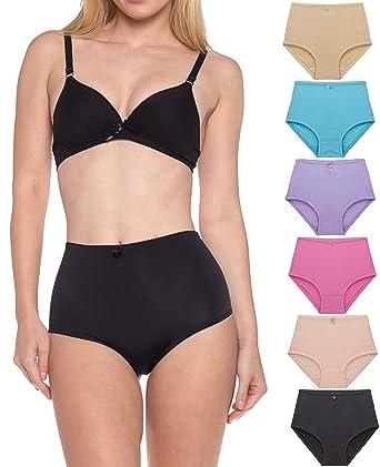 e0f0e380a21af Barbra Lingerie Women's 6 Pack Basic High Waist Brief Underwear Panties  S~5xl (small
