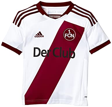 outlet store 38e00 cfb00 adidas Boy's FC Nuremberg Away Jersey-White/Cardinal, Size ...