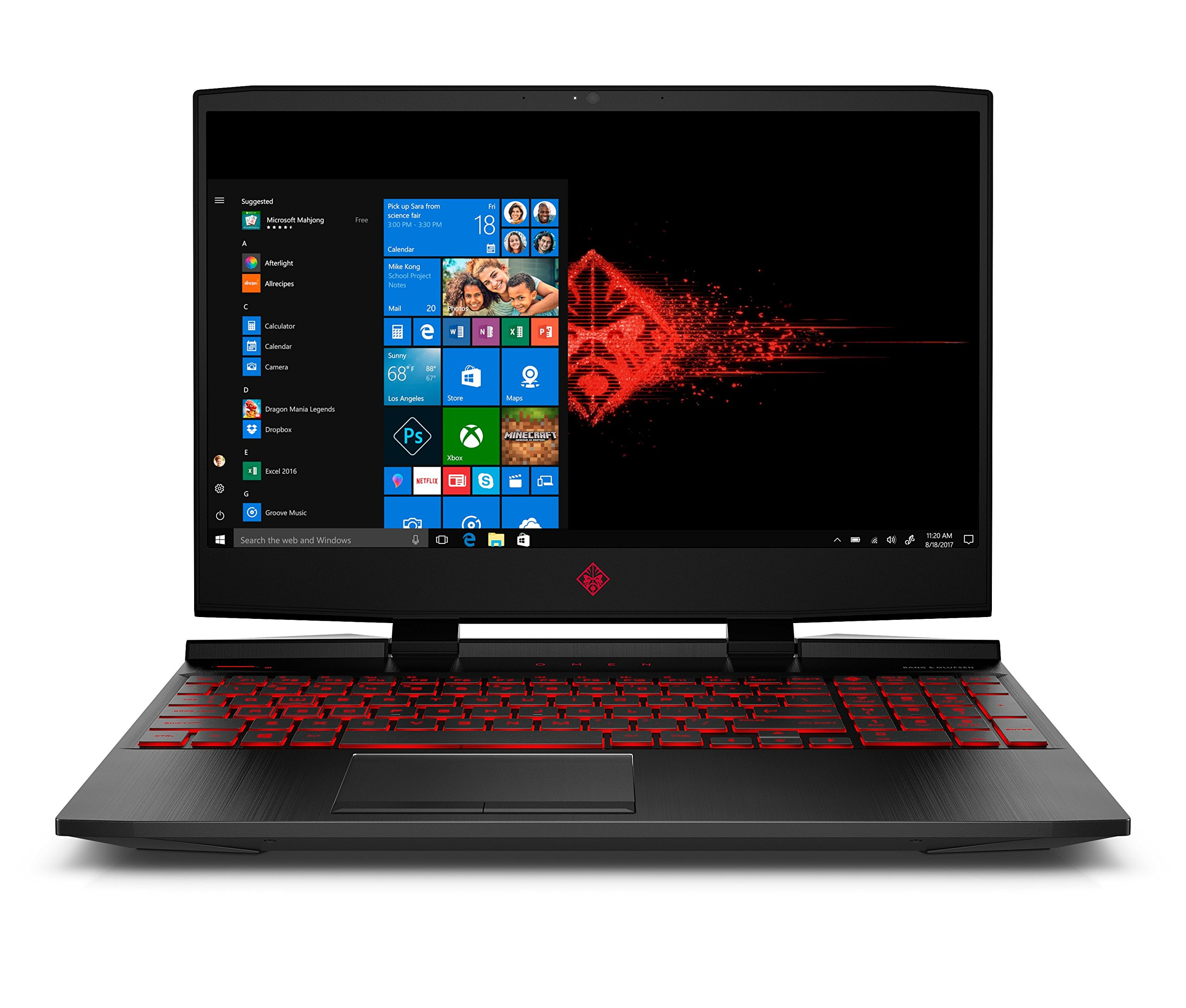 OMEN by HP 15.6-inch Gaming Laptop, i5-8300H Processor, GeForce GTX 1050Ti 4GB, FHD IPS Thin Display, 12GB 2666MHz RAM, 1TB HDD & 128GB PCIE SSD, Windows 10 (15-dc0010nr, Black), Metal 1