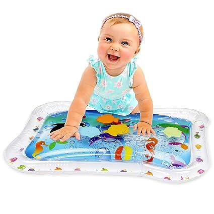 Amazon.com: KLEEGER - Colchoneta hinchable de agua para bebé ...
