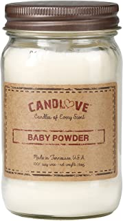 product image for Candlove Baby Powder Scented 16oz Mason Jar Candle 100% Soy Made in The USA