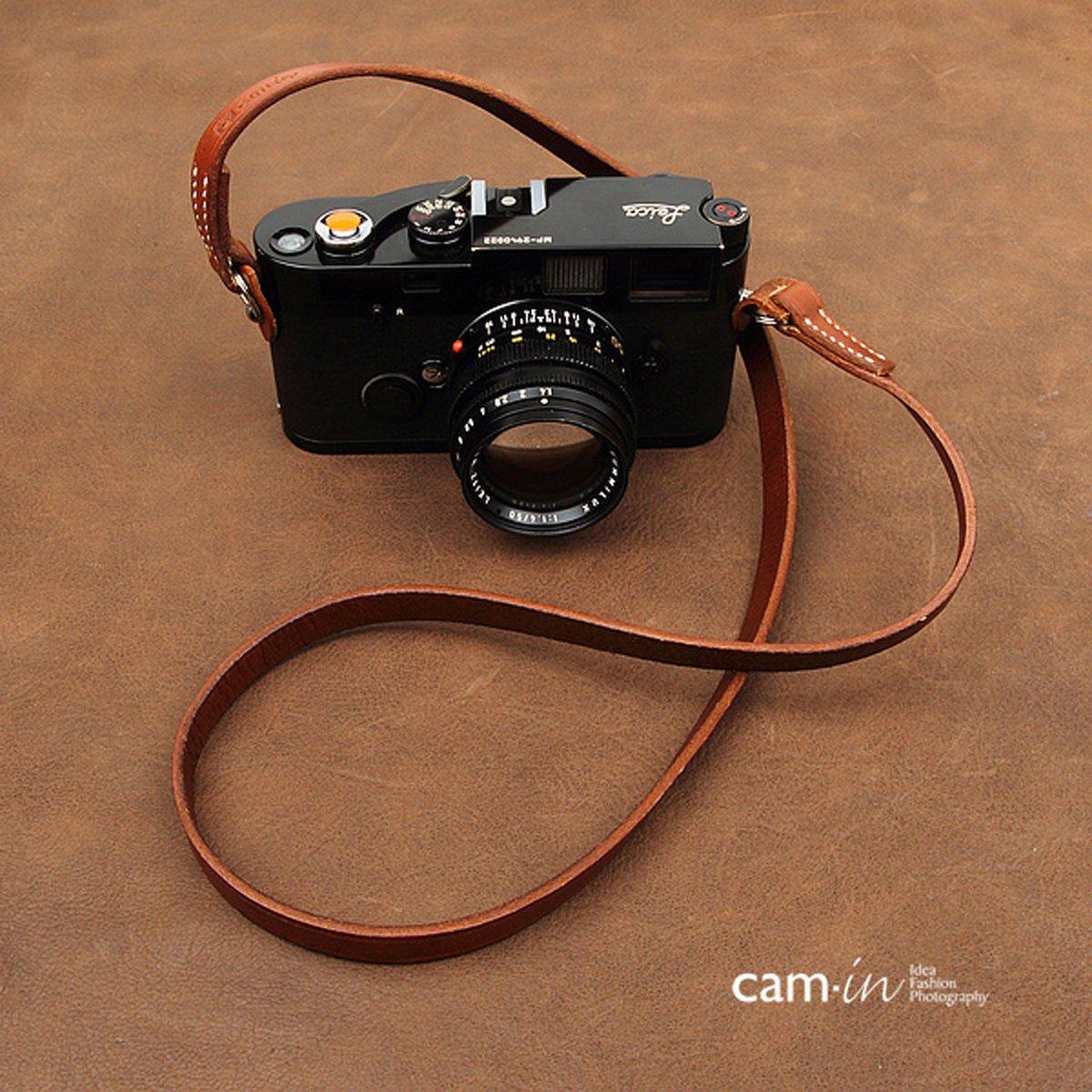 cam-in Realレザーショルダーネックカメラストラップfor Leica/Nikon / Sony/Fujifilmブラウン色 – cs214 B07FDFM8ZZ