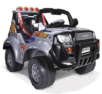 FEBER - Vehículo infantil de 2 plazas X-Storm Bravo High Speed 12V con luces