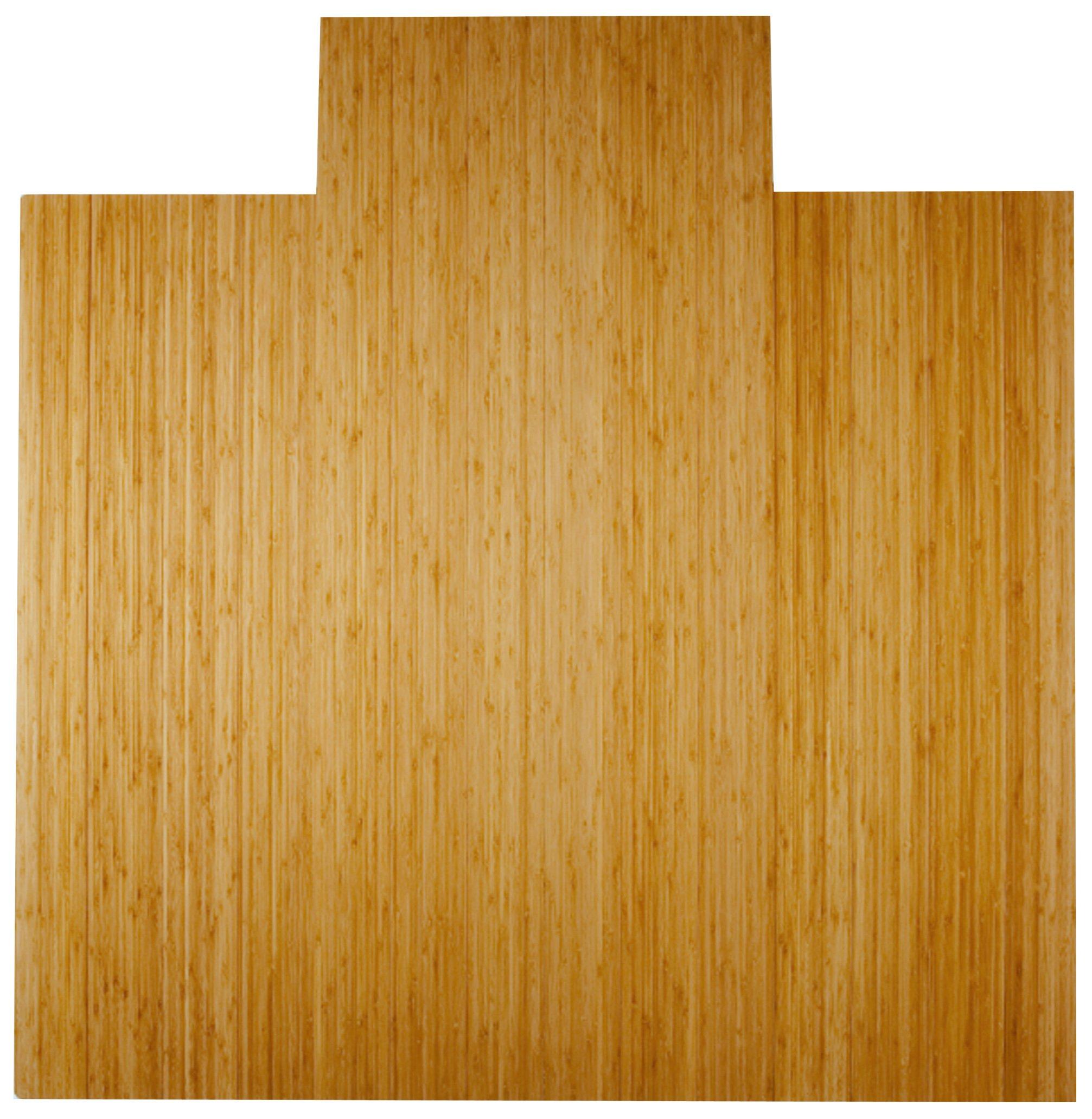 Anji Mountain AMB24024W Real Bamboo Wood Chair Mat, 55 x 57, Natural