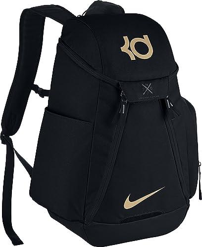Nike KD Max Air Elite Basketball Backpack One Size Black Black Metallic Gold 65251fb631de7