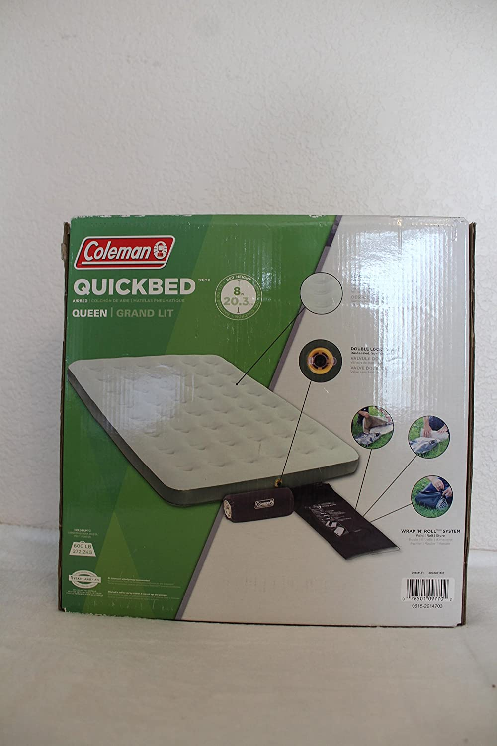 Amazon.com : Coleman Queen Single High Airbed : Camping Air Mattresses : Sports & Outdoors