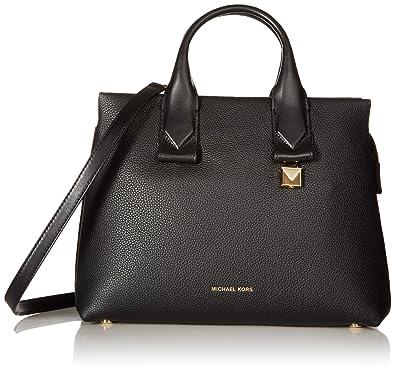 38e4395c02 Michael Kors sac besace en cuir de galets rollins grand noir Black Leather