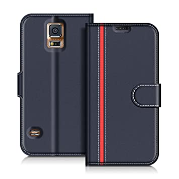 COODIO Funda Samsung Galaxy S5 con Tapa, Funda Movil Samsung S5, Funda Libro Galaxy S5 Carcasa Magnético Funda para Samsung Galaxy S5 / S5 Neo, Azul ...