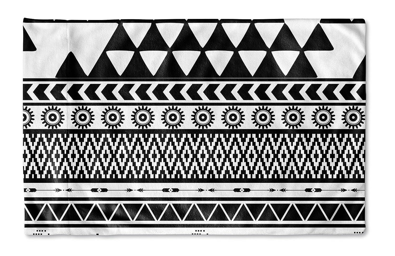 - Navajo Collection Size: 30X20X1 - TELAVC022PC32 Black//White KAVKA Designs Black and White Moroccan Pillow Case,