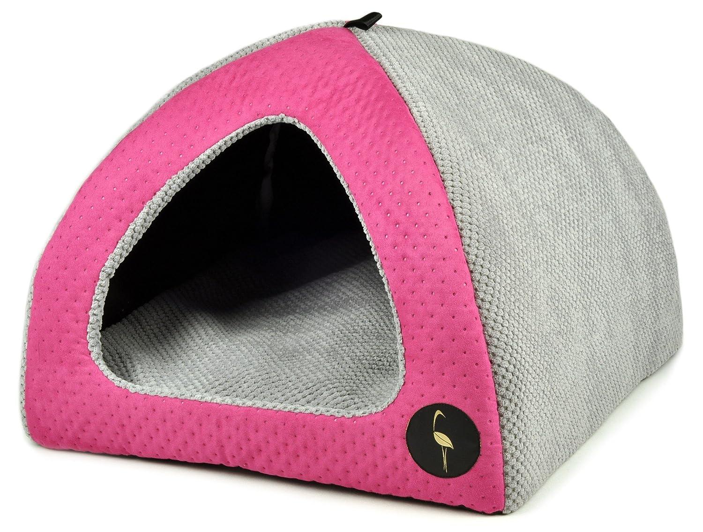 Felice shopping Lauren Design cani grotta casa bella bella bella 50 cm x 50 cm rosa trapuntato letto Grigio   grotta   Piccoli Cani     Gatto grotta  miglior servizio