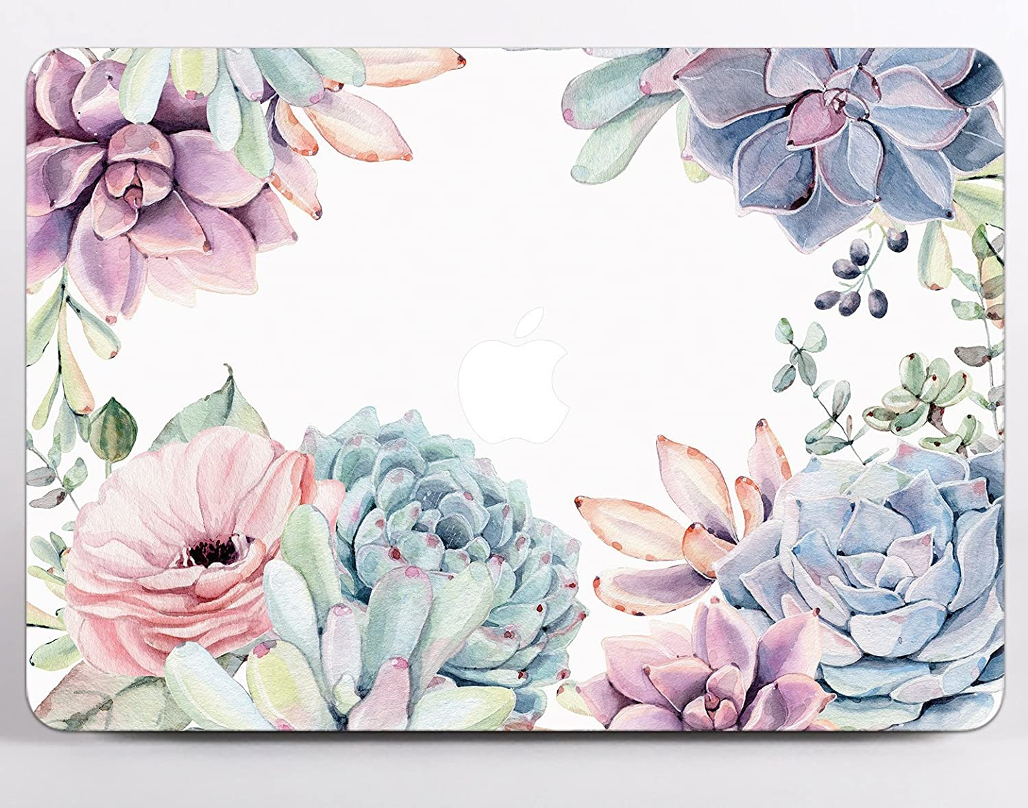 Watercolor Personalized Floral Hard Case Cover For Macbook Air 11 13 Pro 13 15