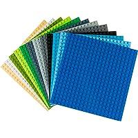 Strictly Briks - Pack de 12 bases para construir - Compatibles con todas las grandes marcas - 15,24 x 15,24 cm