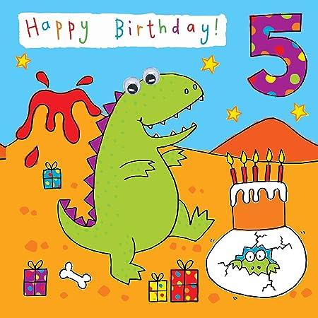 Auguri Buon Compleanno 5 Anni.Biglietto Di Auguri Twizler Per Bambini E Bambine A Tema