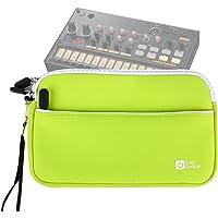 DURAGADGET Housse en néoprène Vert pour KORG Volca Beats/Bass/Keys/Sample/Sample OK GO/FM/Kick/Modular/Drum/Mix Boîte à rythmes - résistant à l'eau