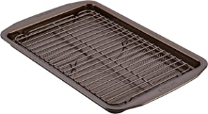 Circulon 47186 Nonstick Bakeware Set with Nonstick Cookie Sheet / Baking Sheet and Cooling Rack - 2 Piece, Chocolate Brown