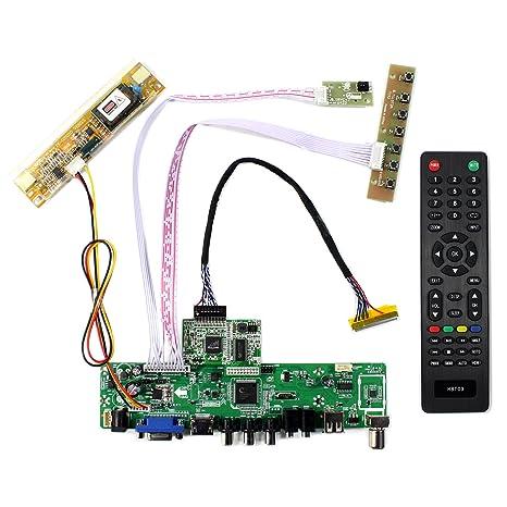 Amazon com: HDMI VGA CVBS USB RF LCD Controller Board for 17